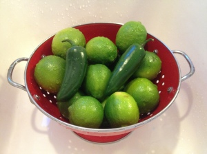 Limes and jalapenos