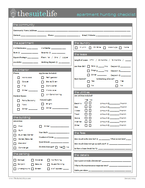 apartment listing template