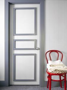 bathroom door chair