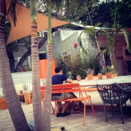 beach nation outdoor communal table