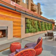 The Huxley - outdoor fireplace