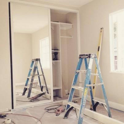 Suite 17_In Progress_Bedroom Closet