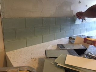 Suite 17_In Progress_Kitchen Tile