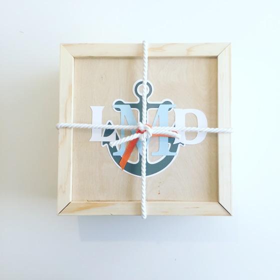 Gift box: baby boy_monogrammed box