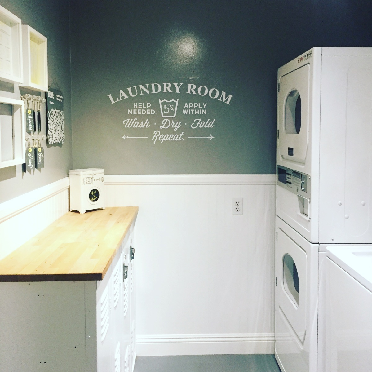these walls do talk: laundry room remodel